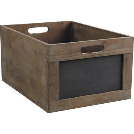 Caisse en bois et tableau noir cra3480 vannerie pack for Tableau noir en bois