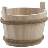 Photo CCF1260 : Corbeille en bois blanc et jute