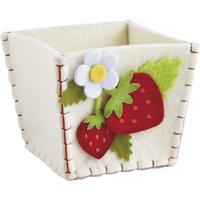 Photo CCF1490 : Mini corbeille en feutrine motif fraise