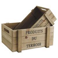 Photo CCO915S : Caisses en bois vieilli Produits du Terr...