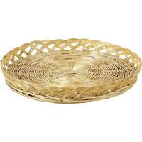 Photo CPL1042 : Corbeille plate en bambou lacerie