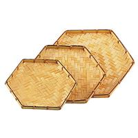 Photo CPL1131 : Plateau hexagonal en bambou