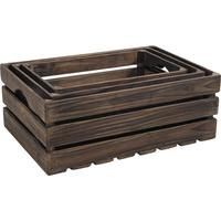 Photo CRA378S : Caisses en bois marron
