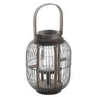 Photo DBO2220V : Lanterne en métal et bois