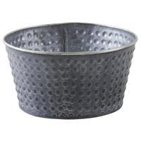 Photo GCO3570 : Corbeille ronde en métal laqué mat