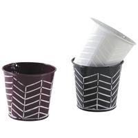 Photo GCP2050 : Mini pot rond en métal laqué