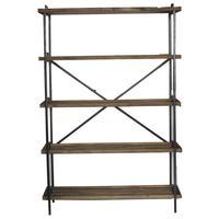 Photo NET2390 : Etagère 5 niveaux en bois et métal