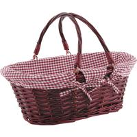 Photo PAM2630C : Panier en éclisse rouge