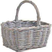 Photo PMA4900 : Panier en osier fort gris