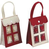 Photo SNO1010 : Mini sac de Noël en feutrine
