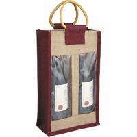 Photo VBO1602 : Sac porte-bouteilles en jute