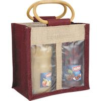 Photo VBO1630 : Sac 2 compartiments en jute