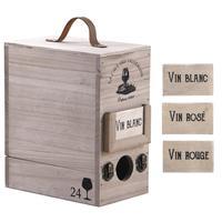 Photo VBO1980 : Boite à cubi en bois 3 litres
