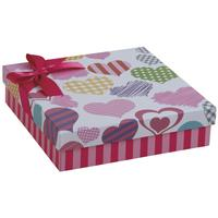 Photo VBT2910 : Boite cadeau en carton avec coeurs