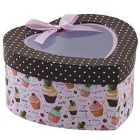 Photo VBT3000 : Boite coeur cupcakes en carton