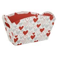 Photo CCO9950 : Corbeille haute motif coeur en carton