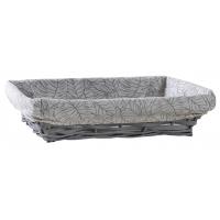 Photo CMA4680C : Manne en bois et osier gris