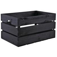 Photo CRA5500 : Caisse en bois noire