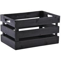Photo CRA5510 : Caisse en bois noire