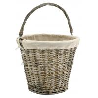 Photo PAM4990J : Panier en osier gris