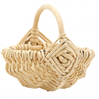 Photo PCF1410 : Mini panier en osier blanc