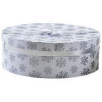 Photo VBT3072 : Boîte ronde blanchesen carton avec motif...