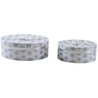 Photo VBT307S : Boîtes rondes blanches en carton avec mo...
