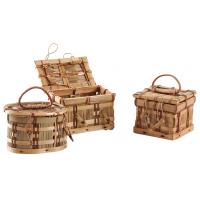 Photo VCF1020 : Coffret en bambou et paille