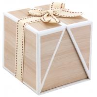 Photo VCF1660 : Boîte carrée en carton Bois