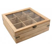 Photo VCP1250V : Boîte à thé en bois et verre Moments de ...