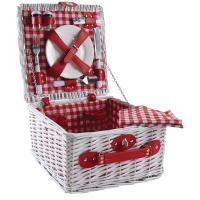 Photo VPI1380C : Mini valise pique-nique en osier blanc 2...