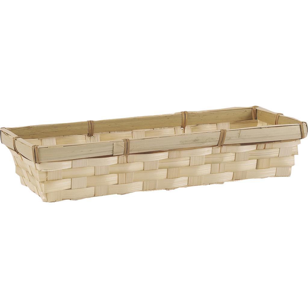 panier bambou rectangulaire