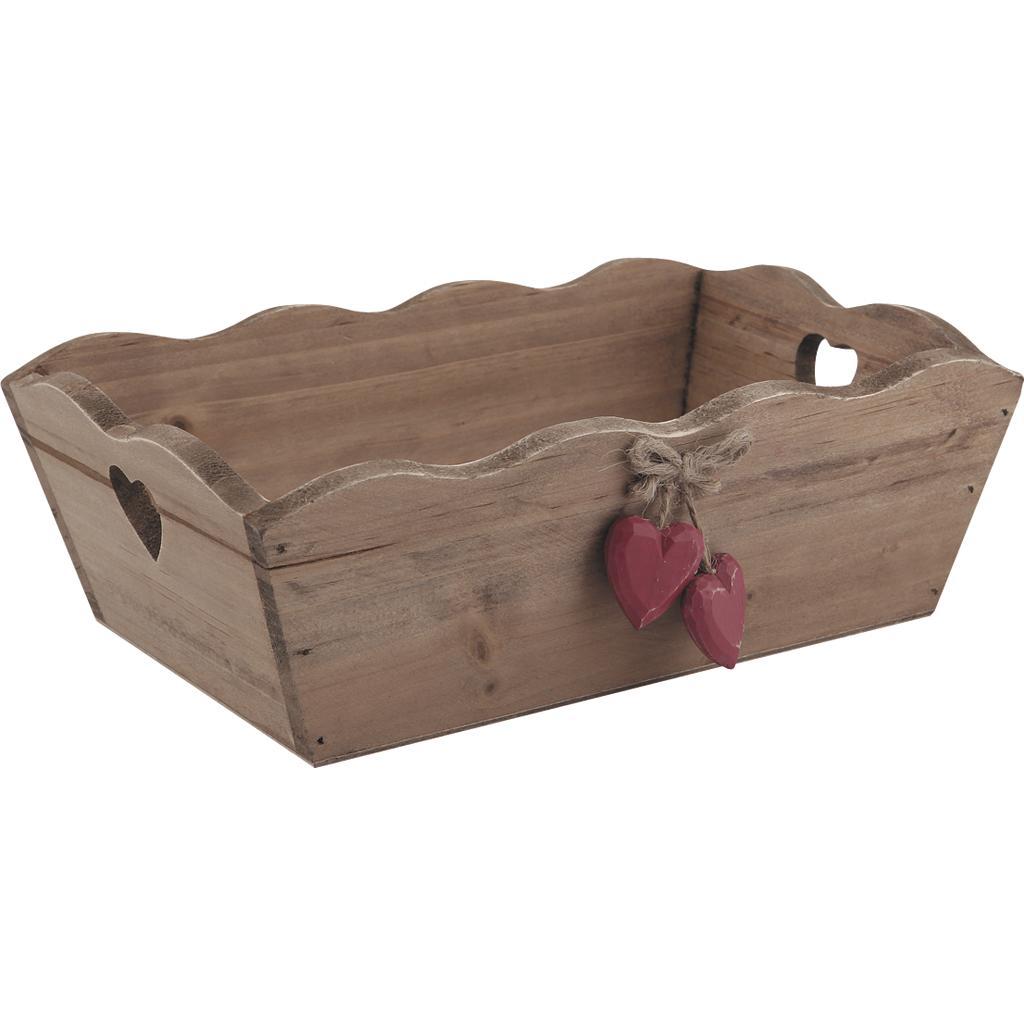 Corbeille en bois coeurs cco7010 vannerie pack for Corbeille en bois flotte