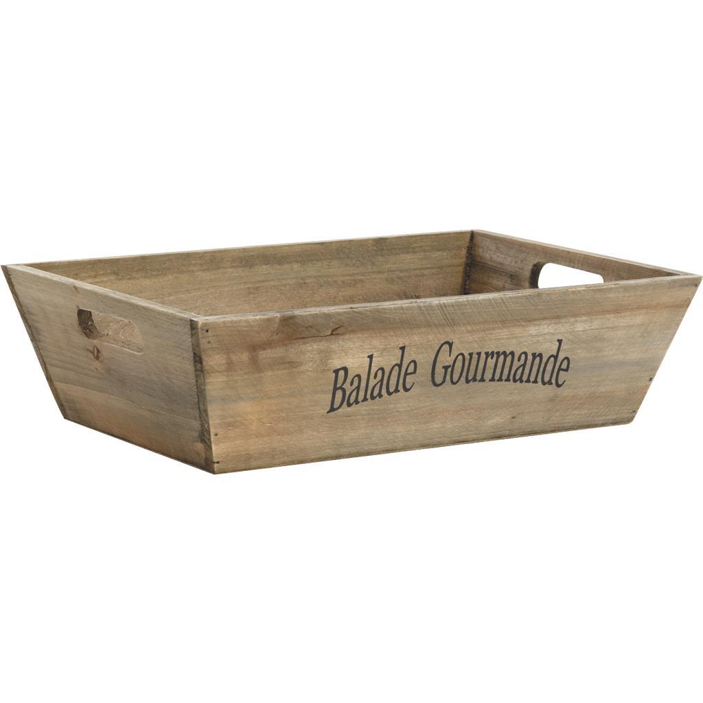 Corbeille en bois gris cco7210 vannerie pack for Corbeille en bois flotte