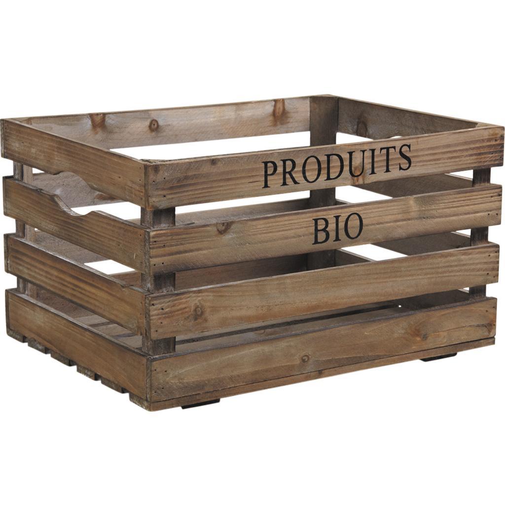 Caisse en bois cra4120 vannerie pack - Porte revues en bois ...