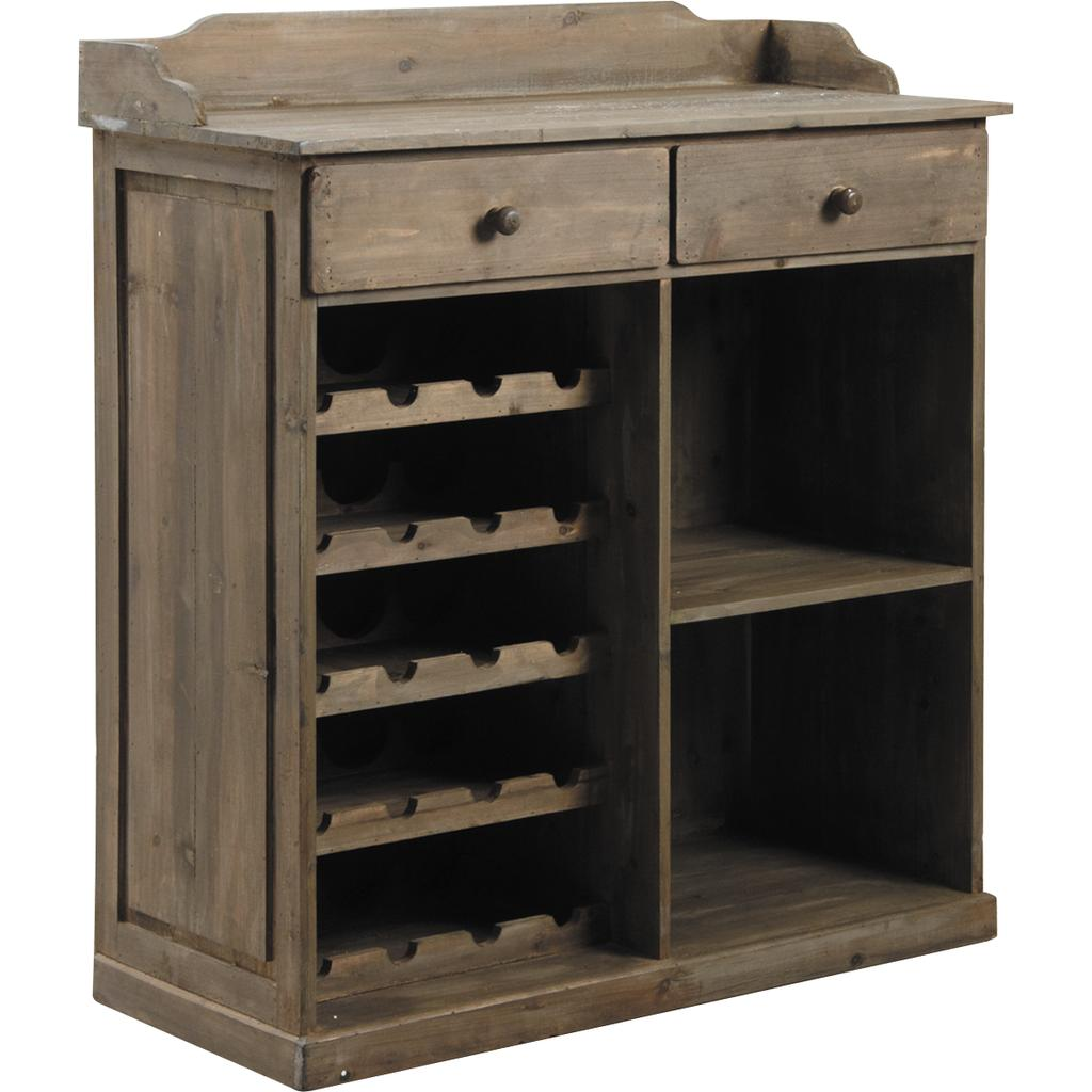 commode comptoir en bois antique ncm2210 vannerie pack. Black Bedroom Furniture Sets. Home Design Ideas