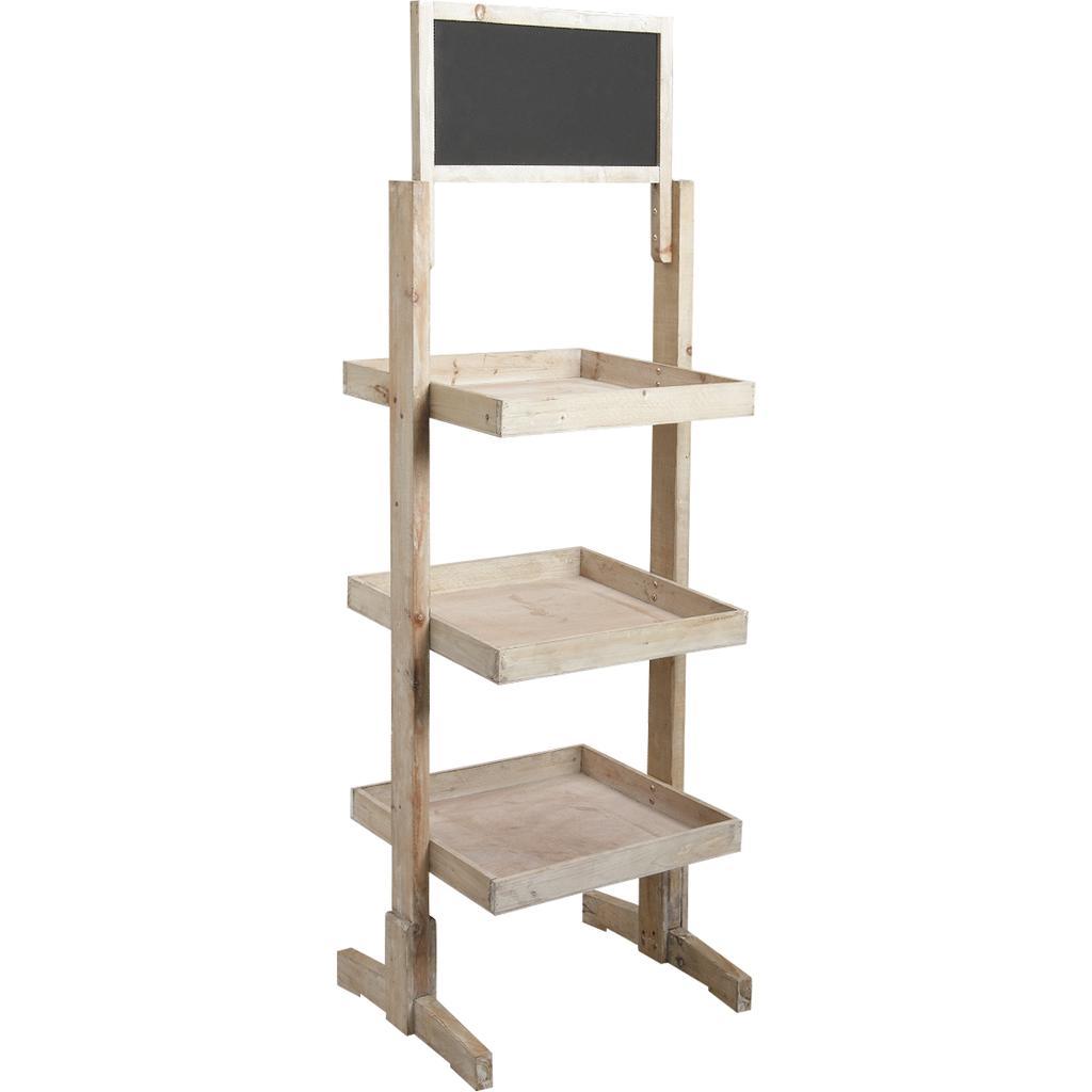 pr sentoir en bois et tableau noir npr1320 vannerie pack. Black Bedroom Furniture Sets. Home Design Ideas
