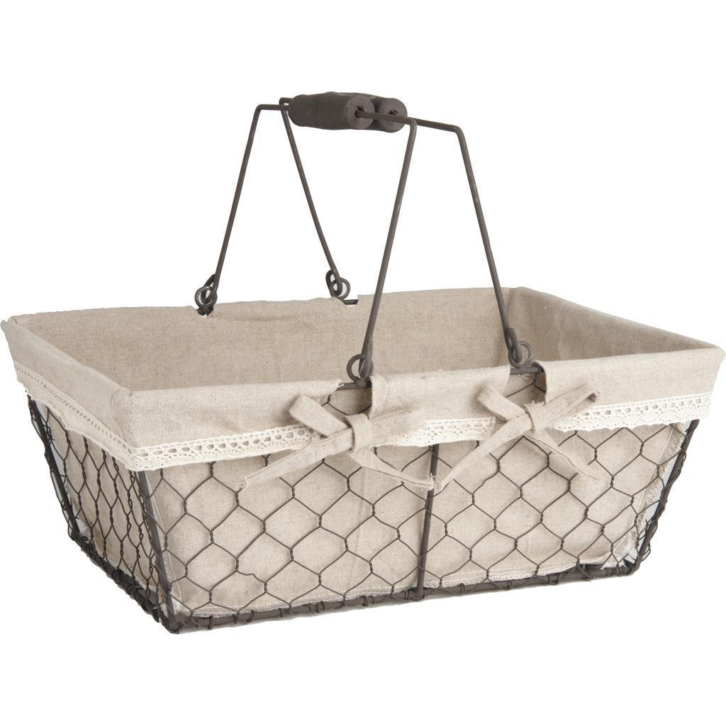 panier en grillage vieilli pam2280j vannerie pack. Black Bedroom Furniture Sets. Home Design Ideas