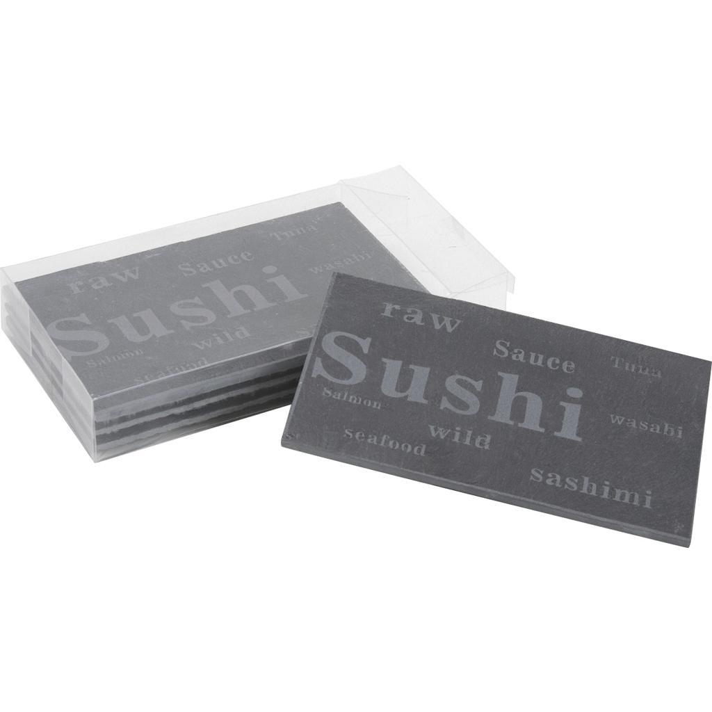 lot de 4 plateaux en ardoise sushi tpl258s vannerie pack. Black Bedroom Furniture Sets. Home Design Ideas