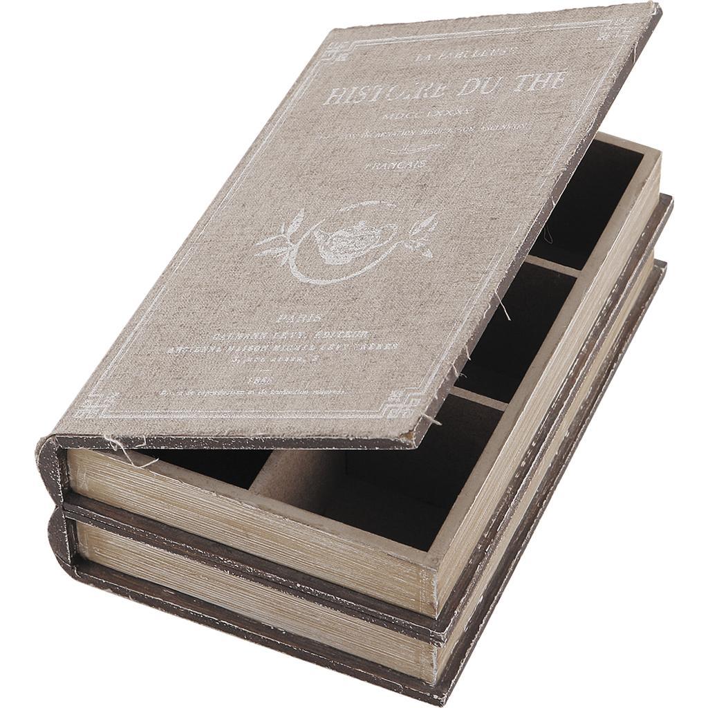 boite th livre en bois 6 compartiments vcp1110. Black Bedroom Furniture Sets. Home Design Ideas